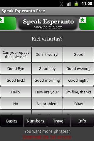 Speak Esperanto (Free) - screenshot