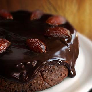 Chocolate-Date Cake with Chocolate Sticky Toffee Glaze.