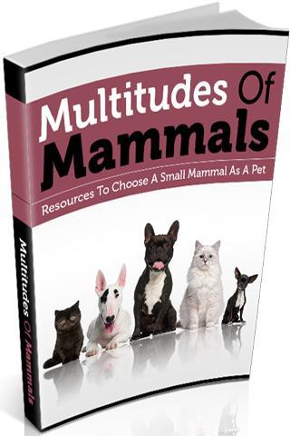 Multitudes Of Mammals EGuide