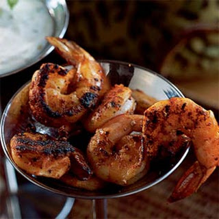 Spice-Crusted Shrimp with Remoulade Sauce.