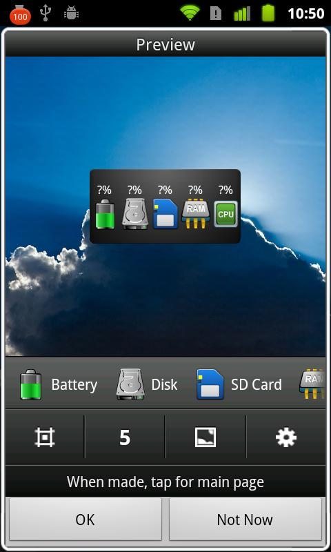 Mini Info+ System Widget App- screenshot