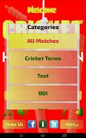 Screenshot of Hangman Intl' Cricket Players