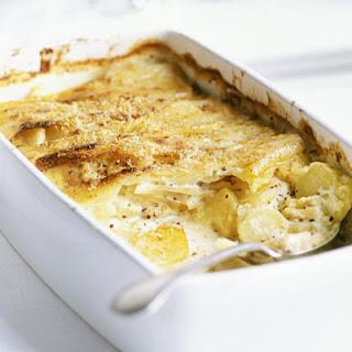 Creamy Parsnip & Mustard Gratin