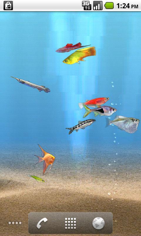 aniPet Freshwater Aquarium LWP - screenshot