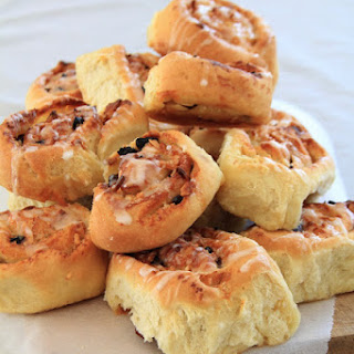 Snail Buns With Almonds And Raisins.