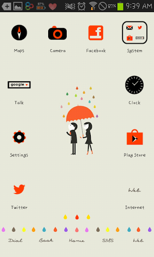 umbrella go launcher theme