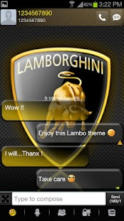 Go sms Lambo - screenshot thumbnail