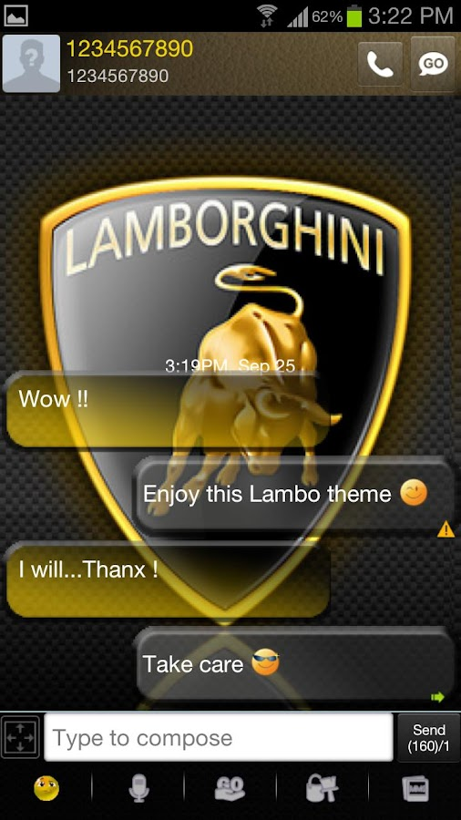 Go sms Lambo - screenshot