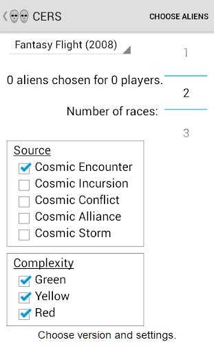 Cosmic Encounter Race Selector