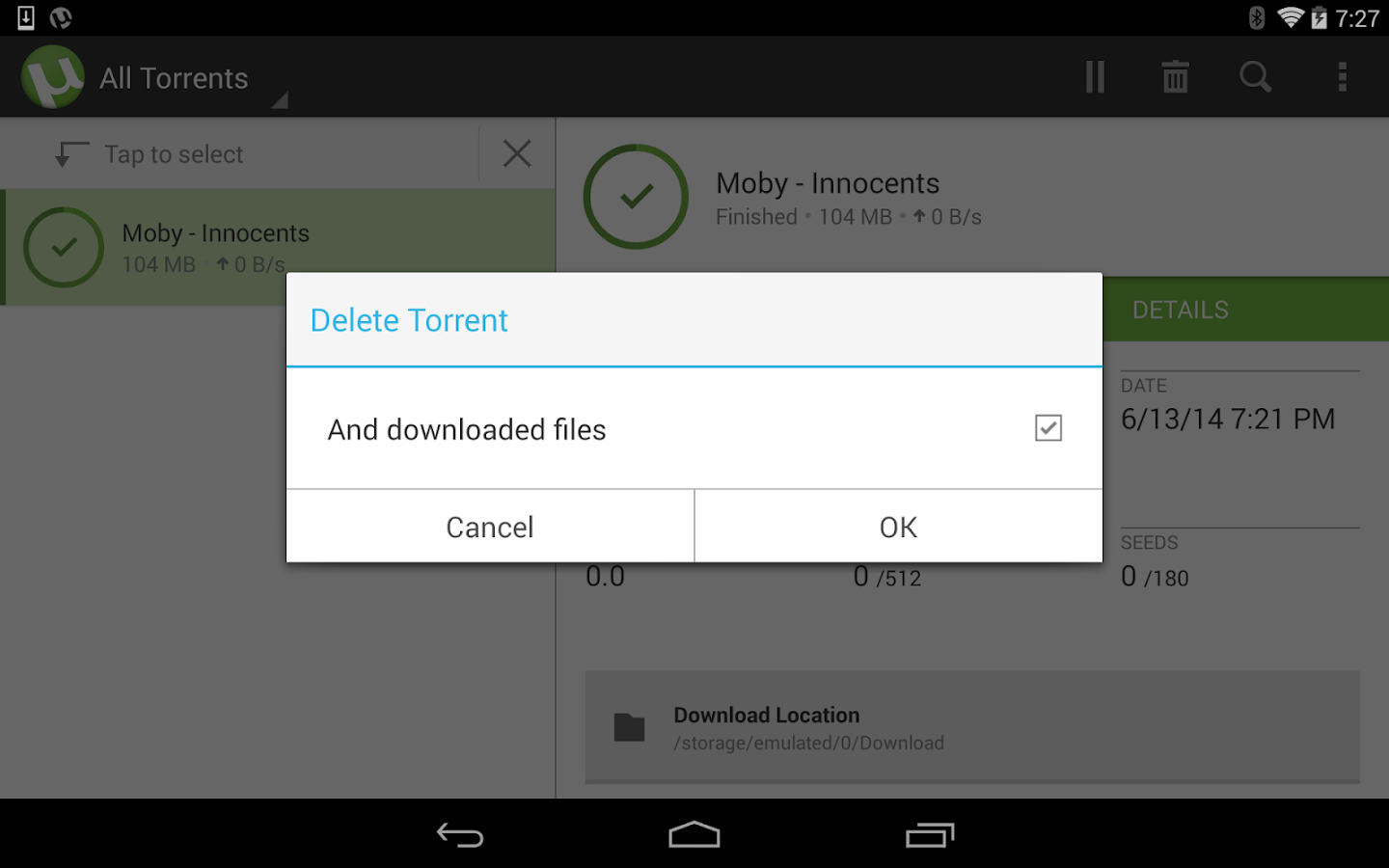 µTorrent®- Torrent Downloader-skjermdump