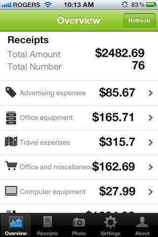 Receipt Reader Expense Report