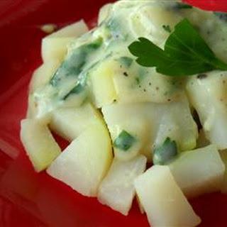 Kohlrabi with White Sauce
