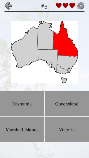 Australian States and Oceania