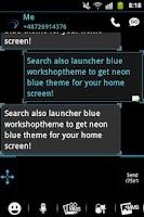 Screenshot of GO SMS Pro Theme Ice Minimal