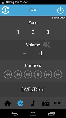 iRV Radio Remote Control - screenshot