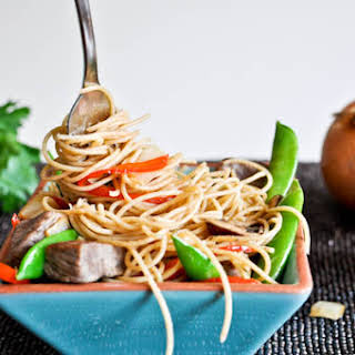 Sweet and Spicy Beef with Noodles.