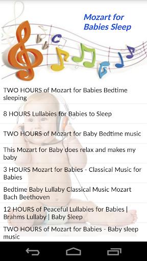Mozart for Babies Sleep