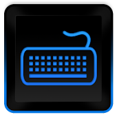 Glossy Blue Keyboard Skin HD