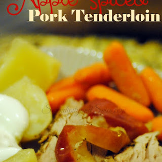 Apple Spiced Pork Tenderloin #FlavorHailsFromSmithfield Recipe
