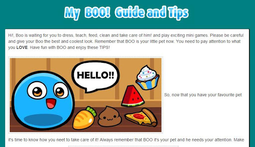 My Boo Guide and Tips