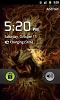 Screenshot of 3D Flaming lion live wallpaper