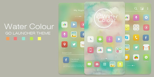 Watercolour GO Launcher Theme