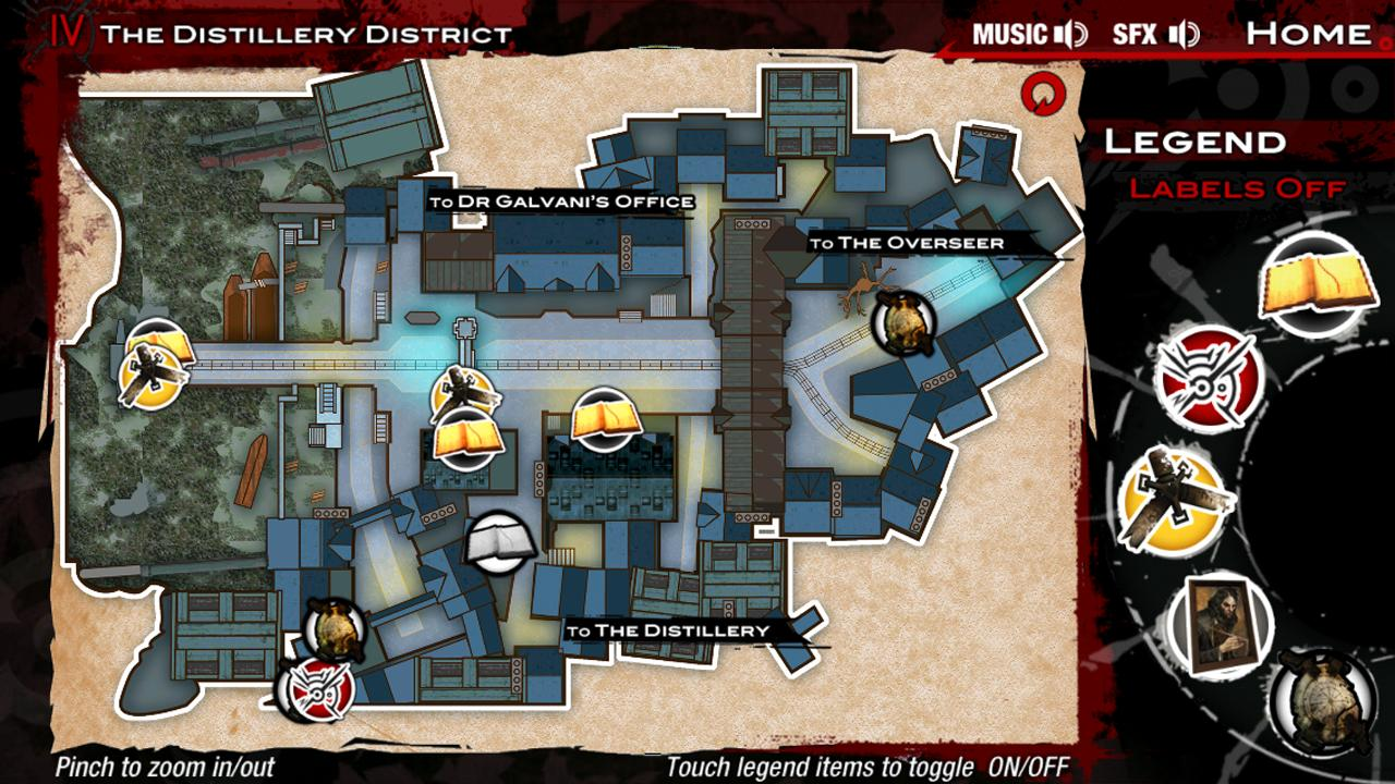 Dishonored Official Map App - screenshot