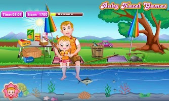 Screenshot of Baby Hazel Fishing Time