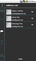 Screenshot of Phone Book ConTacTs