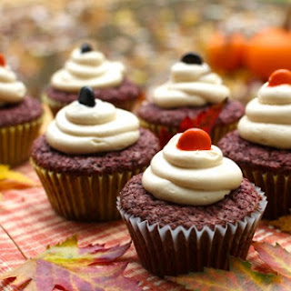 Chocolate Beet Cupcakes with Maple Cream Cheese Frosting