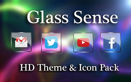 Glass Icon Pack, NOVA Theme Screenshot