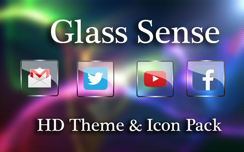 Glass Icon Pack Nova Theme Change Icons Screenshot 7