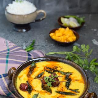Mango Kadhi / Indian Yogurt Soup Flavored with Ripe Mangoes