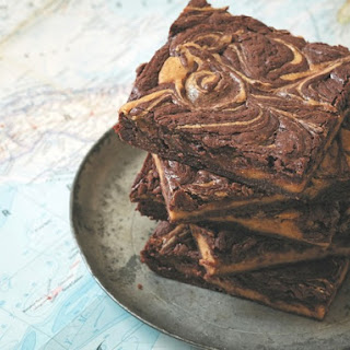 Pumpkin Swirl Cheesecake Chocolate Brownies From 'Baked Occasions'.
