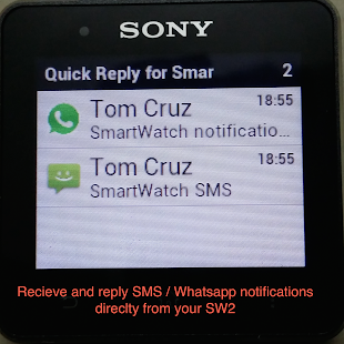 Quick Reply for SmartWatch 2