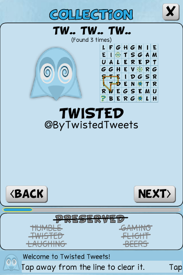 Twisted Tweets Word Search- screenshot