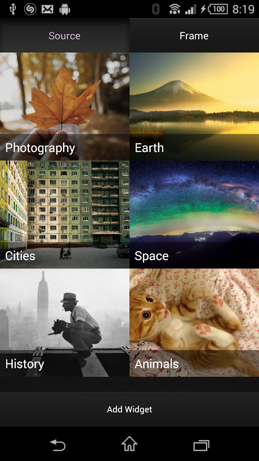 Beautiful Pictures: A Widget- screenshot
