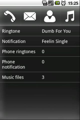 Configure Ringtone - screenshot