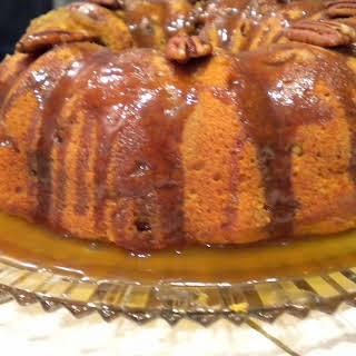 Sweet Potato Buttermilk Bundt Cake with Brown Sugar Bourbon Glaze.