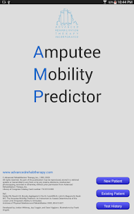 Amputee Mobility Predictor- screenshot thumbnail