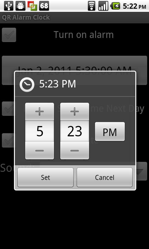 QR Alarm Clock - screenshot