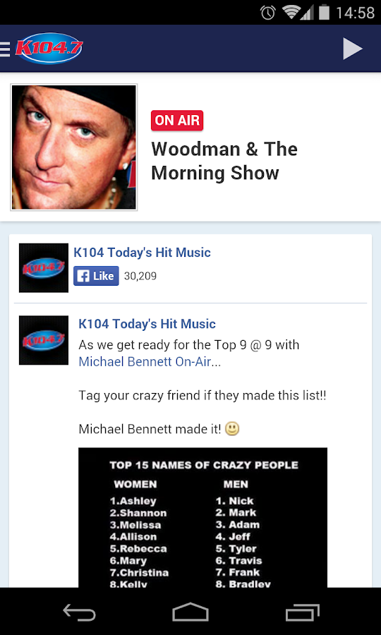 K104.7 - screenshot