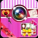 Romantic love photo montage