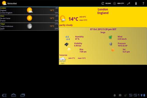 MeteoNet - screenshot