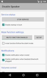 Disable Speaker- screenshot thumbnail