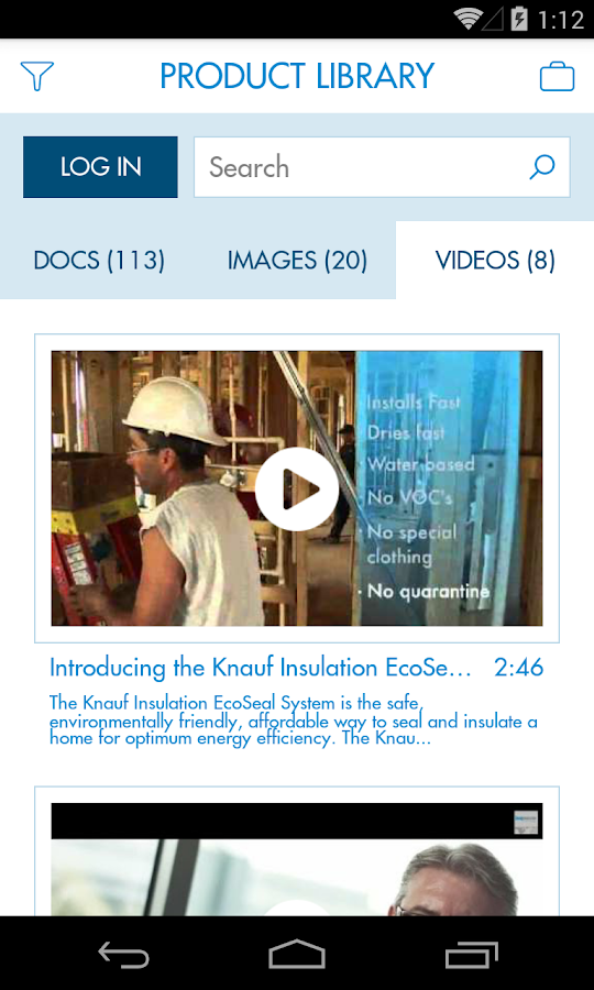 Knauf Insulation Mobile- screenshot