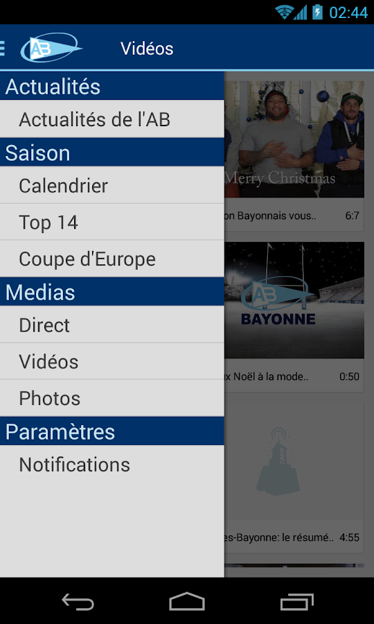 AVIRON BAYONNAIS RUGBY PRO - screenshot