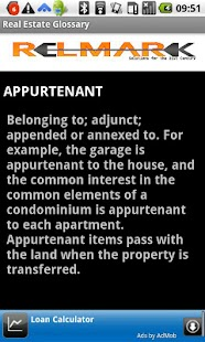 Glossary Real Estate Terms - screenshot thumbnail