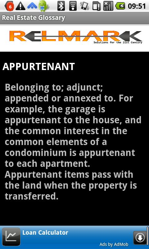 Glossary Real Estate Terms- screenshot