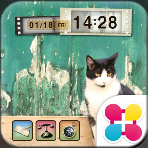 トイカメラ風猫の壁紙きせかえ Hello! Icon